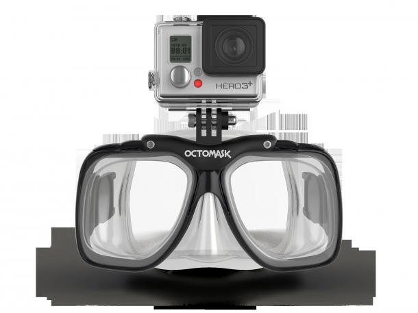 #Octomask-Taucherbrille-mit-GoPro-Actionpro-Halterung-Standard-Optik-transparent, 89,95€ bei Ebay - must have!