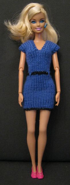Ravelry: #0891 Black and Turquoise Dress pattern by stickatillbarbie.se