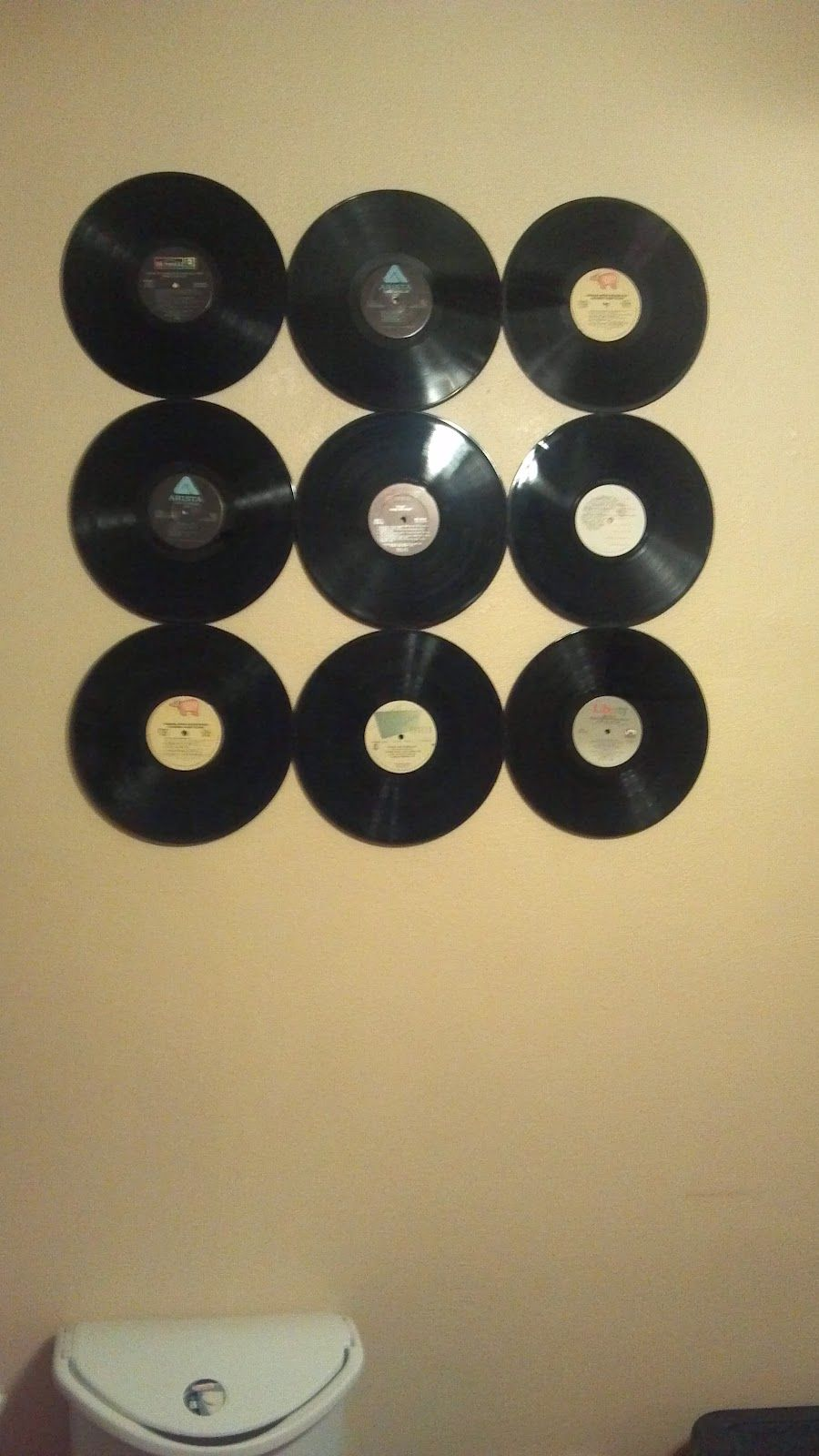 Frugal Crafting - Retro Record Wall Decor | Crafty Things ...