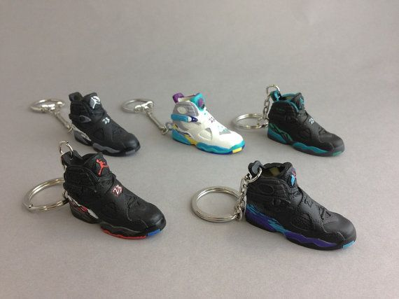 Mini sneaker/shoe 3d keychain Nike air Jordan viii 8 by FlipItSF, $10.00