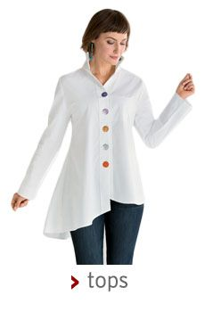 Simple white button down shirt - fitted lagenlook + assorted buttons.