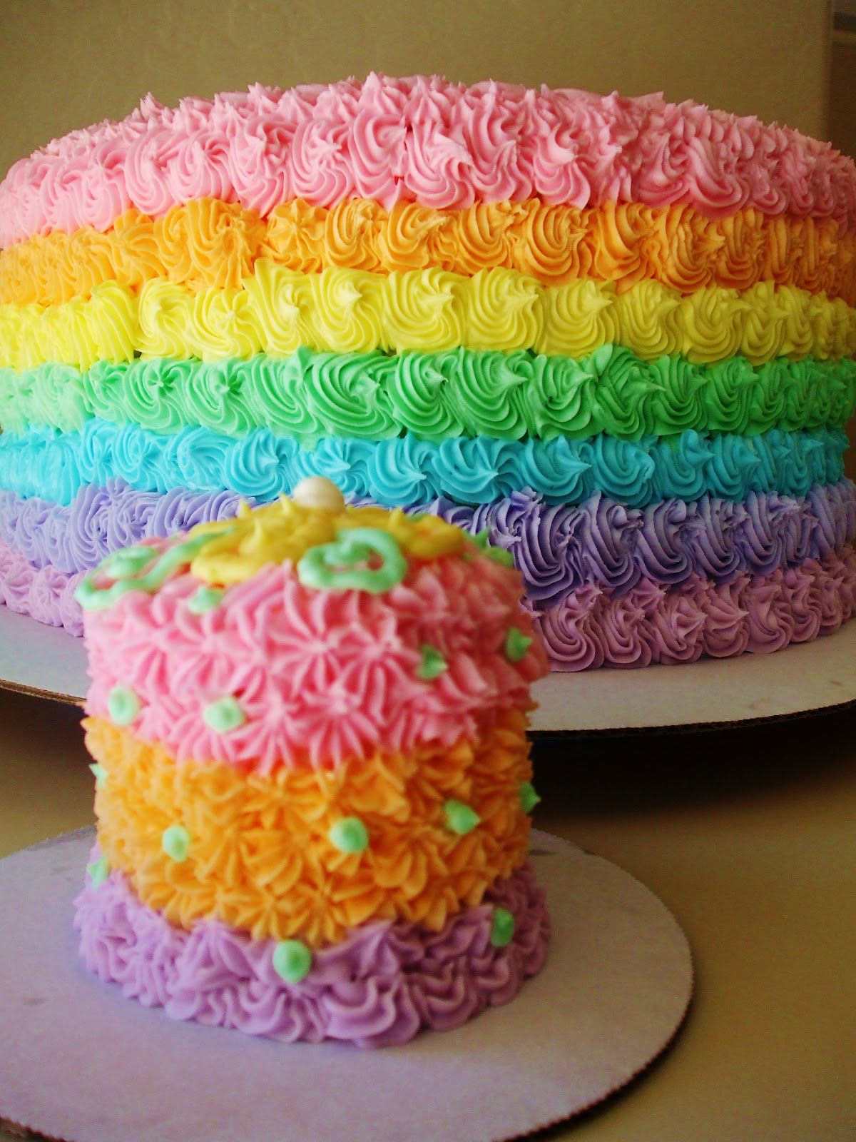 Rainbow Color Wheel Layer Cake