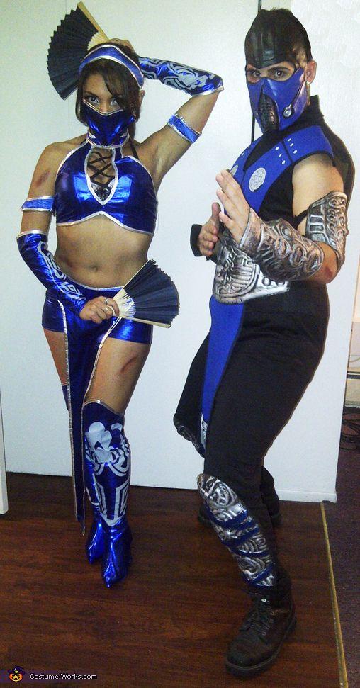 kitana and sub zero from mortal kombat halloween costume contest via costumeworks - Mortal Kombat Smoke Halloween Costume