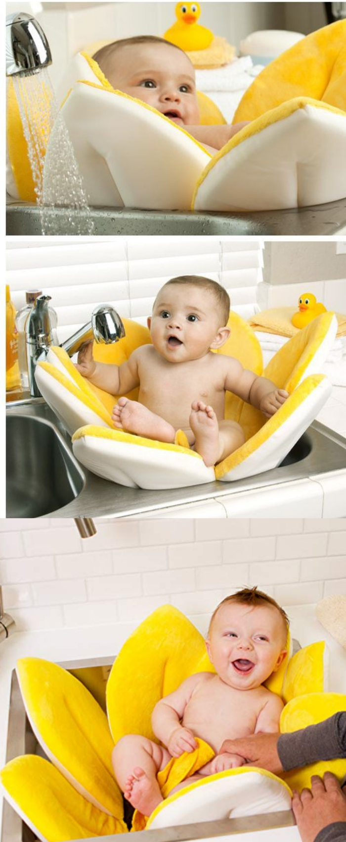 Foldable Blooming Bath Flower For Babies Baby Tub Baby Bath Seat Blooming Baby Bath