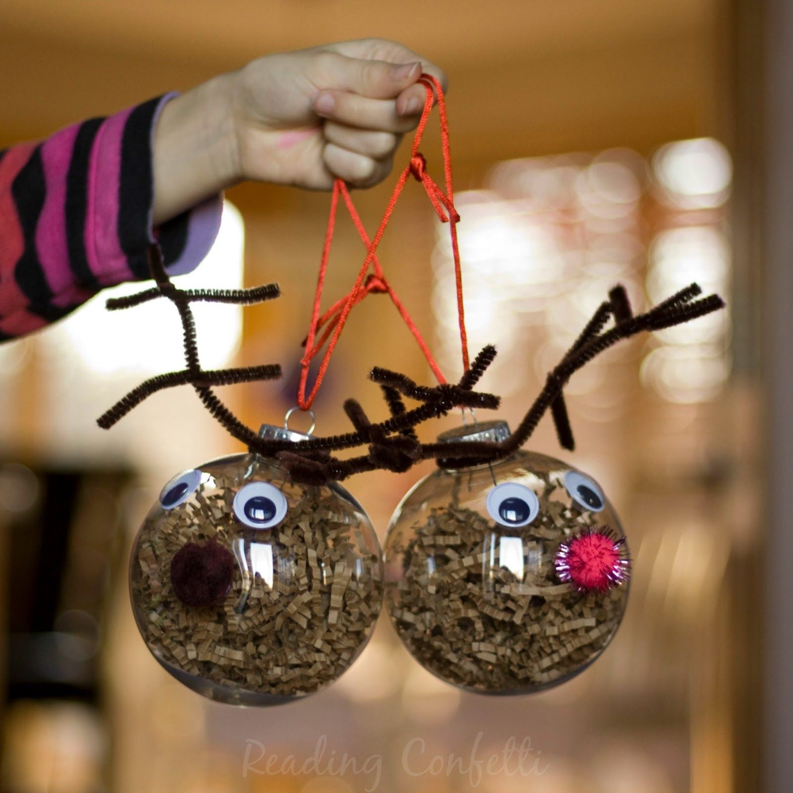 Cousin ornaments - Easy To Make Reindeer Ornaments