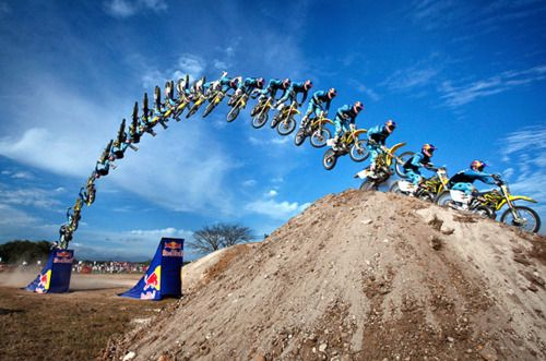 Action Sequence Of A Dirt Bike Making A Jump Sequence