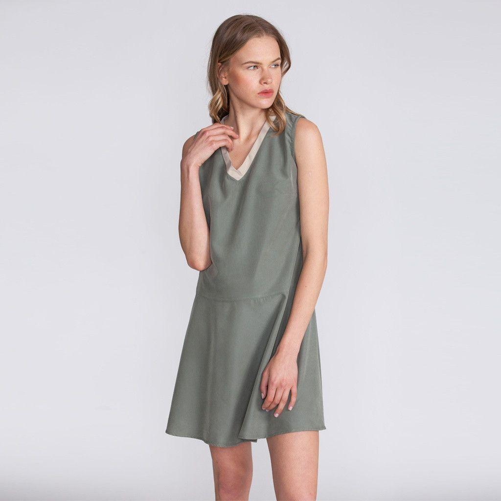 Ivory v neck summer dress products pinterest summer dresses