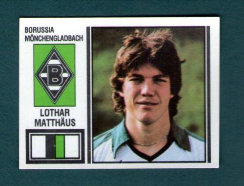 Lothar Matthaus 1981 Rookie Borussia Monchegladbach Panini Fussball 81 Soccer Futbol Internacional Futbol Internacional