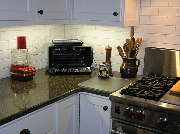 White Subway Tile With Platinum Grout Kitchen Tiles