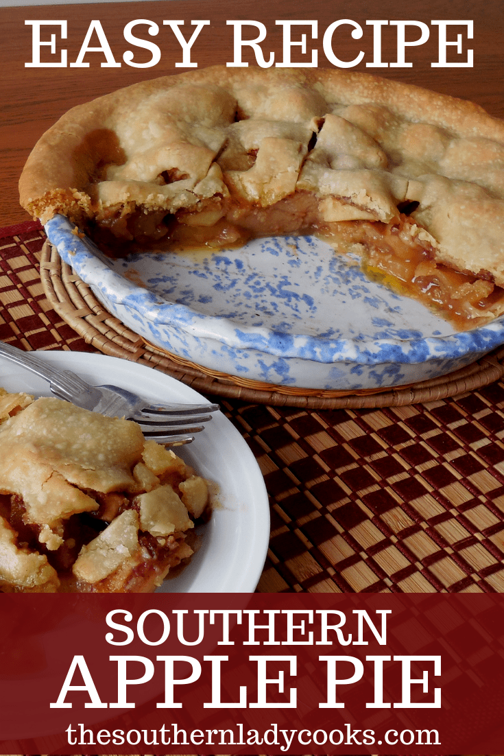 SOUTHERN APPLE PIE   The Southern Lady Cooks   Apple pie recipe ...