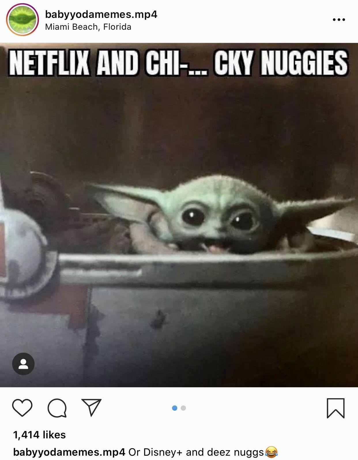 Netflix And Chicky Nuggies Yoda Funny Yoda Meme Humor