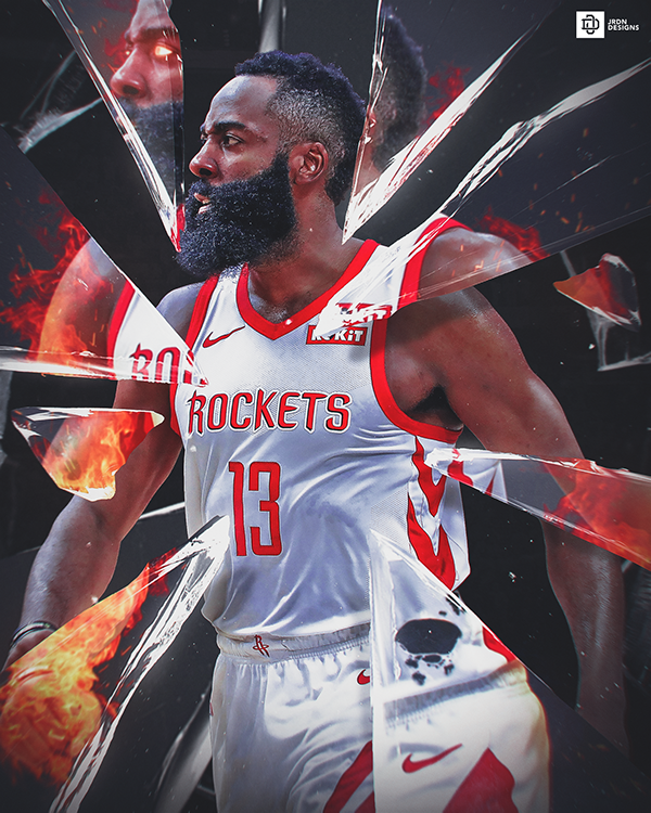 James Harden Houston Rockets Nba Basketball Nba