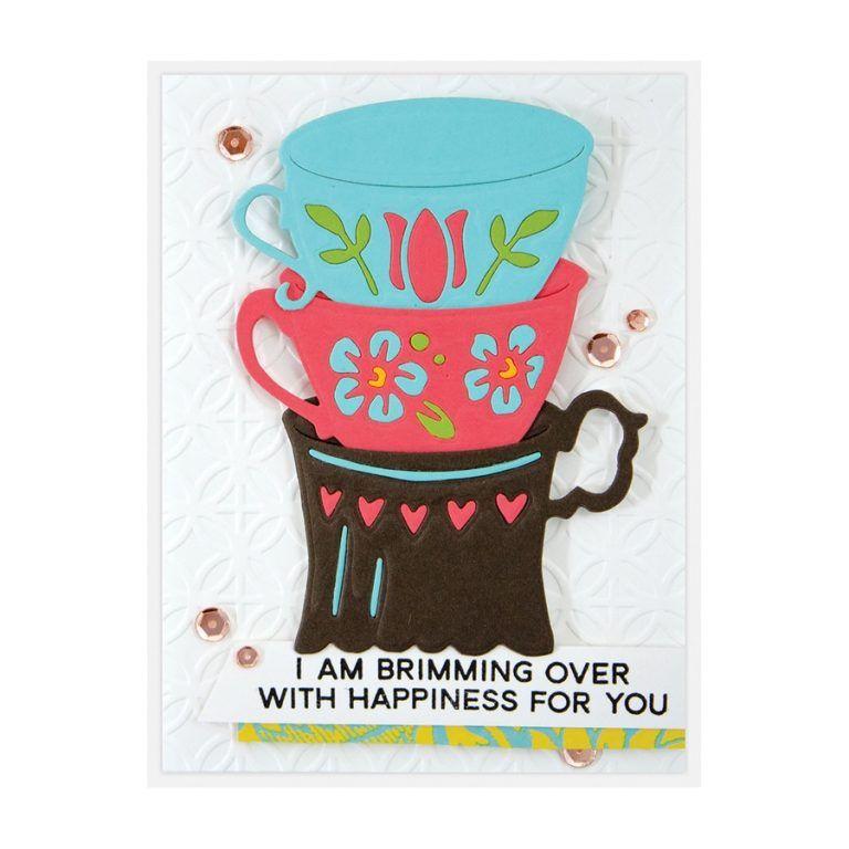 Spellbinders Cuppa Love Cutting Dies Set Coffee Tea Cup