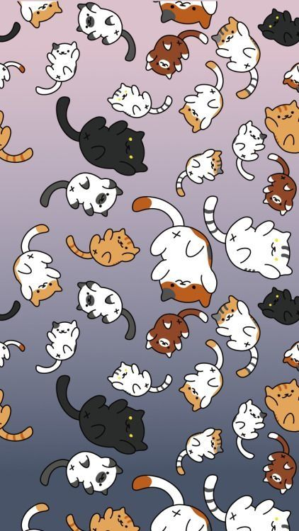Animated Cat Iphone Wallpaper Iphonewallpapers Neko Atsume