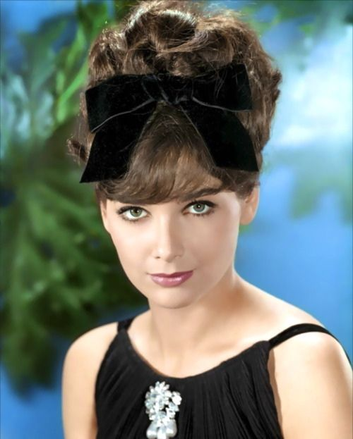 Suzanne Pleshette by PeterJ21959, via Flickr (Oh wow, I remember the older girls wearing bows in their hair like that in the 60's...)