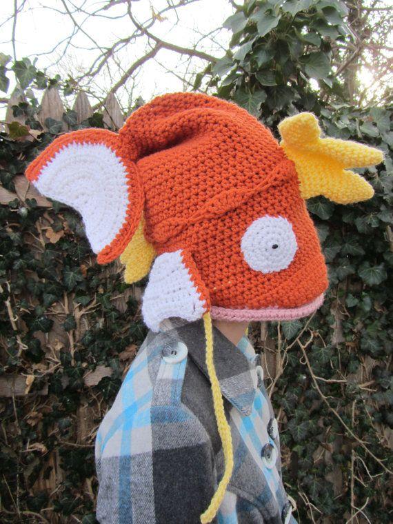 Hecho a la medida - la Magikarp Pokemon del sombrero del ganchillo ...
