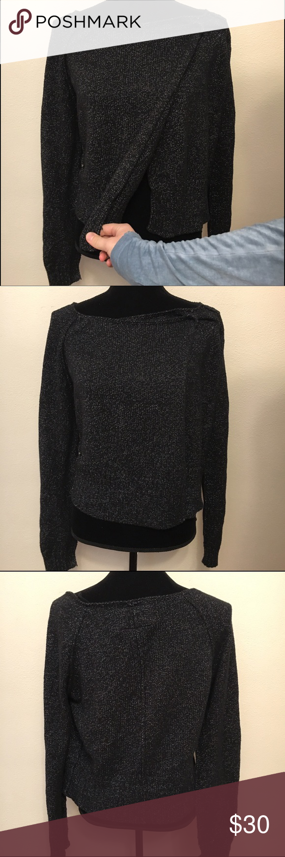 Hurley unique wrap sweater black and silver large | Hurley ...