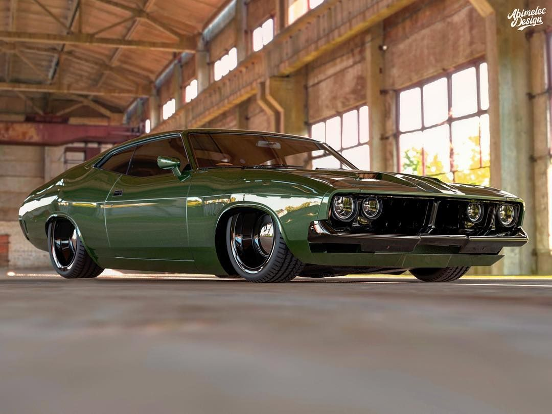 Someone Must Build This Restomod Aussie Ford Falcon Xb Coupe Carscoops In 2020 Ford Falcon Aussie Muscle Cars Muscle Cars