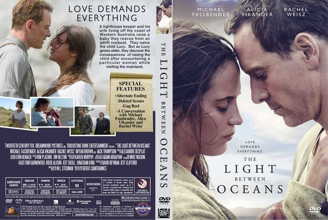 The Light Between Oceans Dvd Custom Cover The Light Between Oceans Dvd Covers Dvd Cover Design