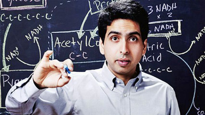 """Salman Khan talks about how and why he created the remarkable Khan Academy, a carefully structured series of educational videos offering complete curricula in math and, now, other subjects.  He shows the power of interactive exercises and calls for teachers to consider flipping the traditional classroom script — give students video lectures to watch at home and do """"homework"""" in the classroom with the teacher available to help."""