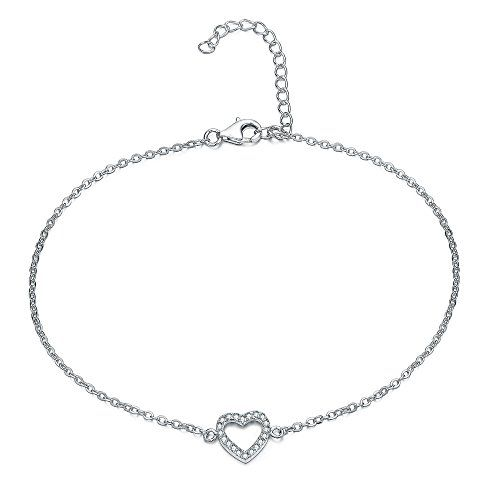 UK Sreema Elegant Heart ANKLET With Micro Pave AAA Zircon, STERLING SILVER Anklet / Ankle Chain / Ankle Bracel The perfect accessory for any occasion, this gorgeous Figaro-style anklet will add the perfect finish to any look. The solid sterling silver construction is finished with (Barcode EAN = 5305739748939) http://www.comparestoreprices.co.uk/december-2016-6/uk-sreema-elegant-heart-anklet-with-micro-pave-aaa-zircon-sterling-silver-anklet--ankle-chain--ankle-bracel.asp