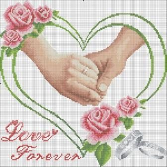 """NEW Cross Stitch Kits/"""" love forever /"""""""