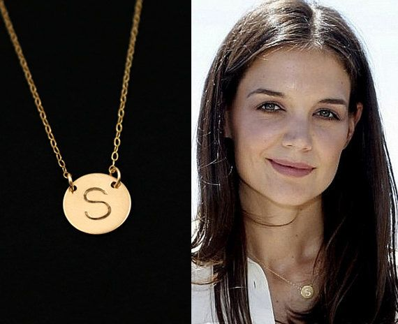 Initial necklace gold disc necklace personalized jewelry large initial necklace gold disc necklace personalized jewelry large initial charm necklace 12mm aloadofball Gallery
