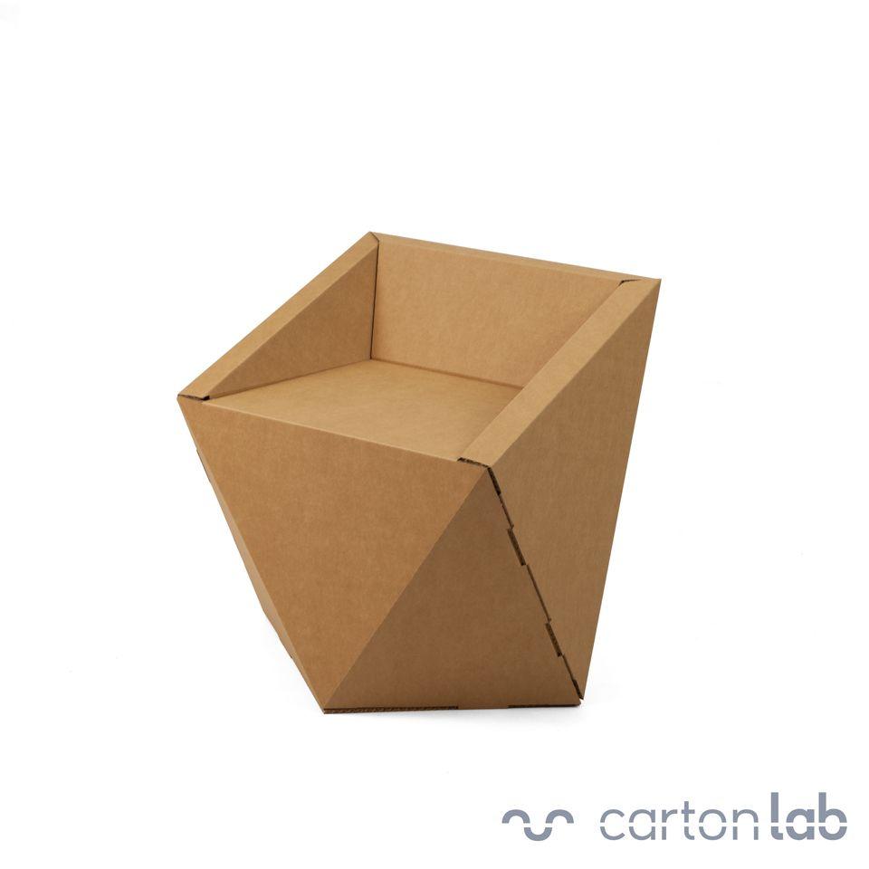 FACETA silla de cartón | Silla de cartón, Sillas y Cartón