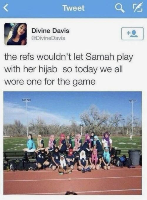 Teammates supporting against discrimination #funny #memes #jokes