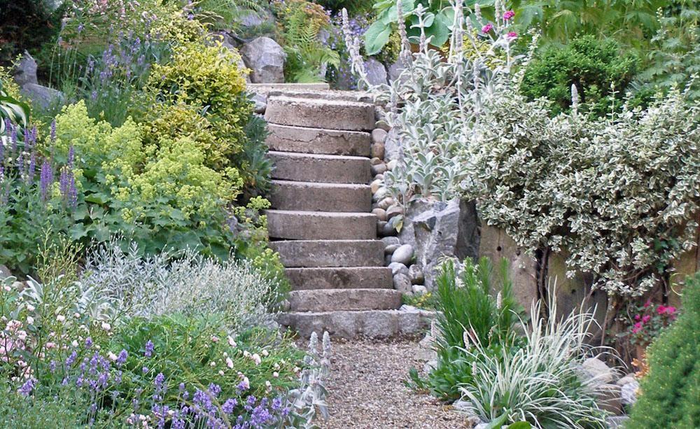 Gartentreppe - Gestaltung, Ideen und Tipps Outdoor spaces and Gardens - garten selbst gestalten tipps