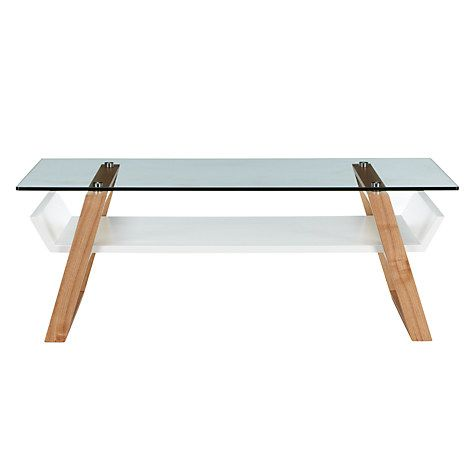 House By John Lewis Airframe Glass Coffee Table Glossop Table