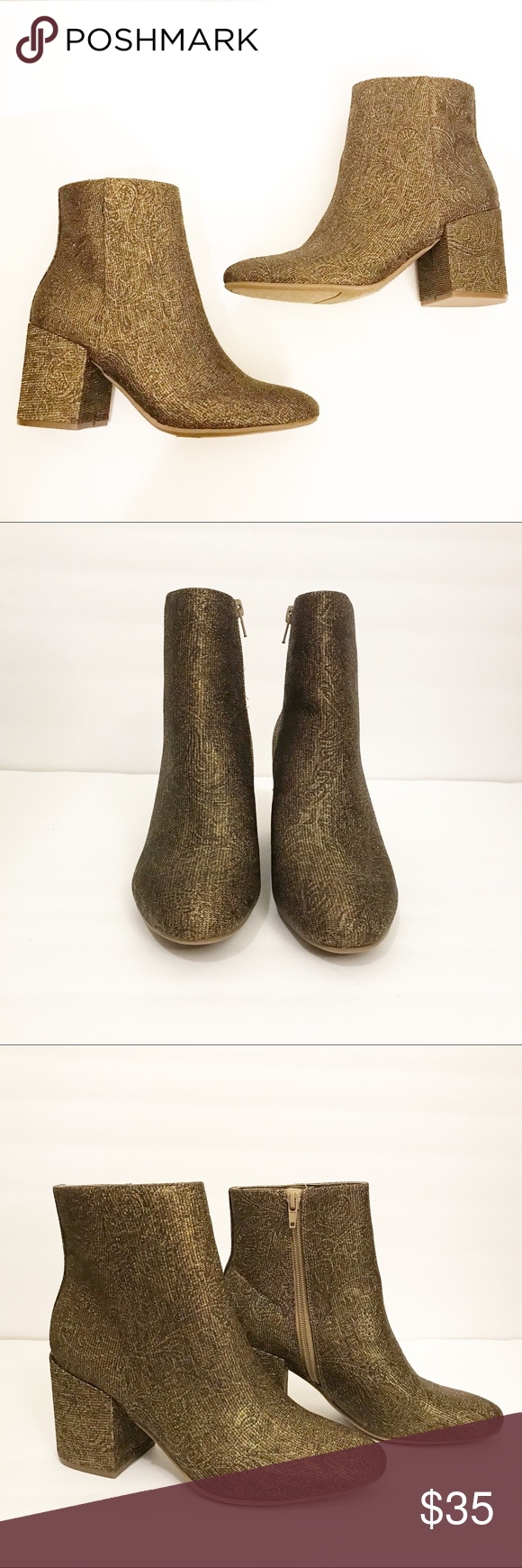 83fcf0b418a Carlos by Carlos Santana Gold Floral Sparkle Boots These NEW without tags  boots are so cute! Beautiful floral design complimented with glitter sparkle  ...