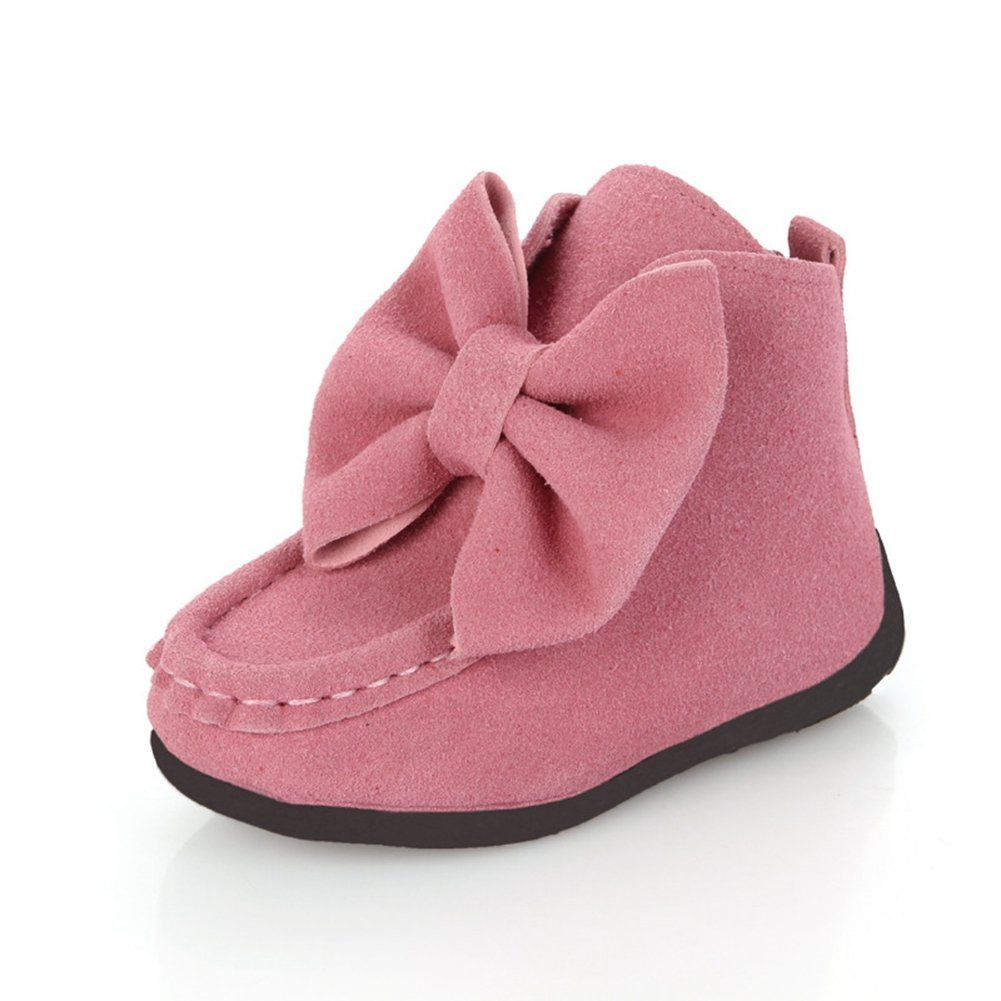 CYBLING Autumn Winter Girls Fashion Bowknot Princess Shoes Ankle Boots ( Toddler Little Kid) e3d9e74ed554