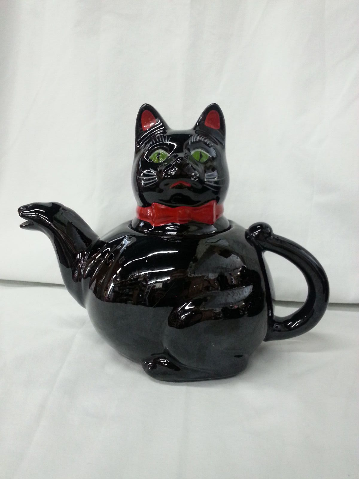 Vintage Shafford Black Cat Ceramic Teapot From Japan