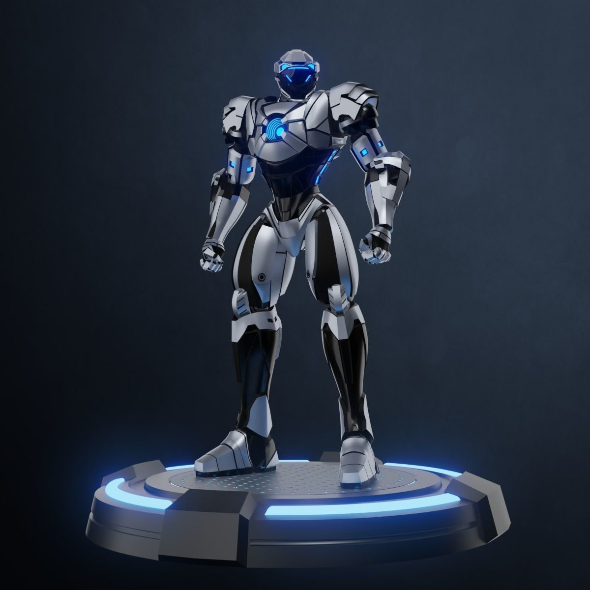 Robot character mecha game asset 3D model in 2020
