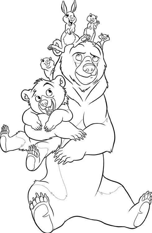 Brother Bear Coloring Pages Best Coloring Pages For Kids Bear Coloring Pages Brother Bear Disney Princess Coloring Pages