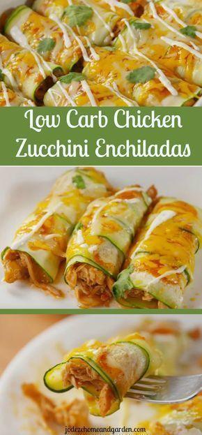 Low Carb Chicken Zucchini Enchiladas  Ich halte diese fest weil ich essen will