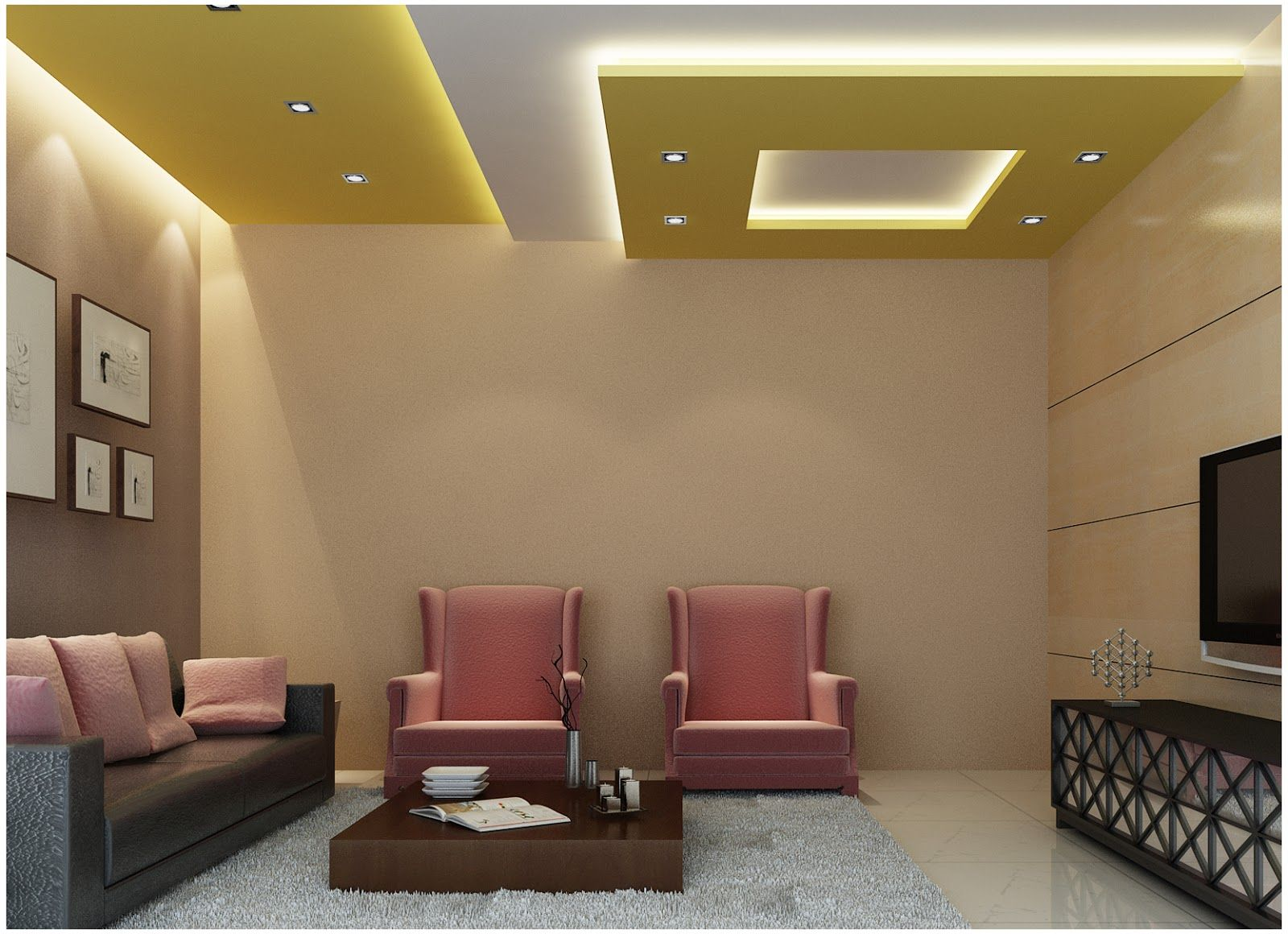 Large catalog for plaster designs for false ceilings for all rooms in modern  style 25 modern plaster ceiling designs with integrated LED ceiling  lighting ...