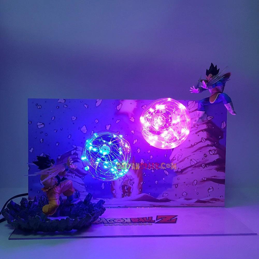 Dragon Ball Z Vegeta Super Saiyan Power Up Led Night Light Dbz Evil Vegeta Action Figure Lamp Led Bedroom Decoration Gift Led Night Lights