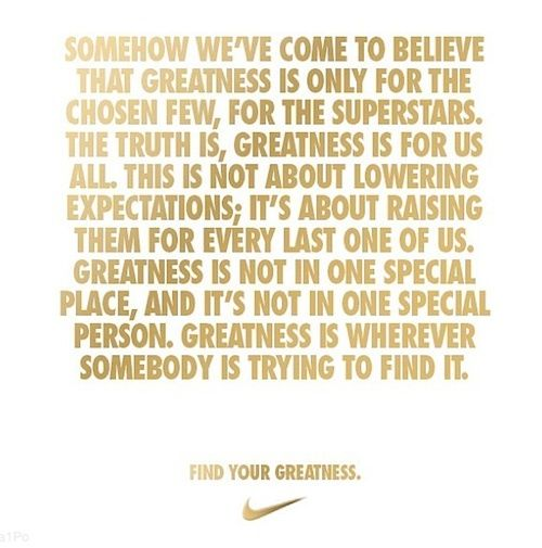 Find Your Greatness! Nike Ad