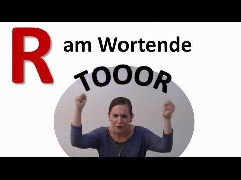 Deutsch lernen Aussprache von R am Wortende/Pronunciation