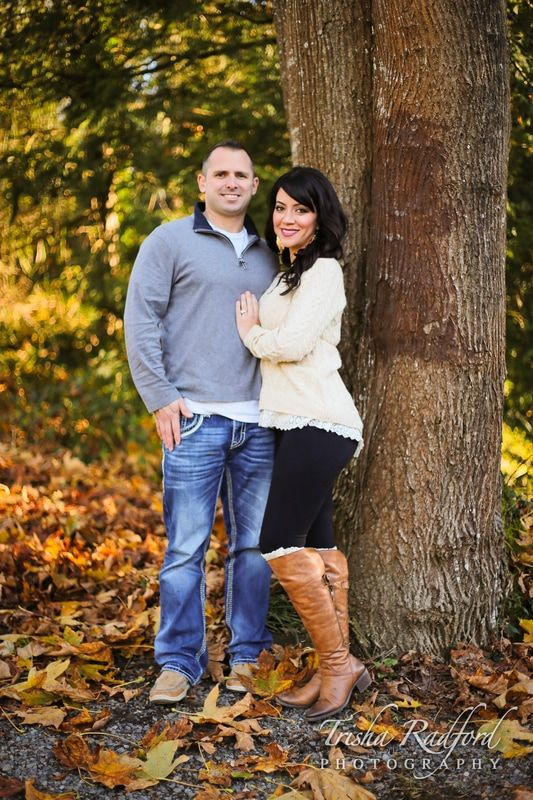 Fall Leaves Couple Portrait Photography Posing Ideas Engagement Photos Fun Session