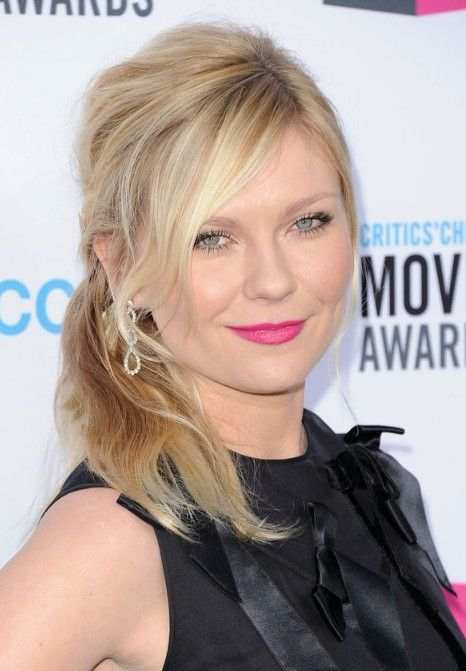 Kirsten Dunst Medium Length Blonde Ponytail Hairstyle Hurrstyles