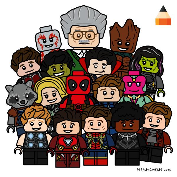 Drawing Lego Avengers Infinity War Cartoon Drawings Disney Avengers Coloring Avengers Coloring Pages