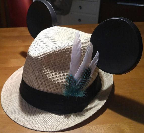 bea7ec7719049 Disney Diy · Fedora Hat · Mouse Ears · Check out this item in my Etsy shop  https   www.etsy.