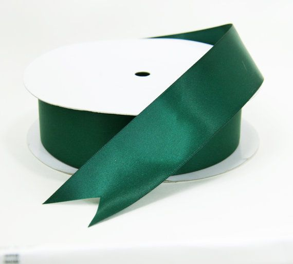 Hunter Green Satin Ribbon Inch Wide By The Length Dark D F Sash Dfs Rb