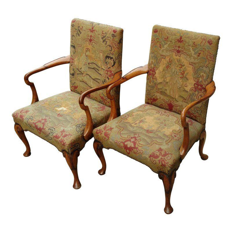 mid 19th century antique english carved walnut upholstered rh pinterest com