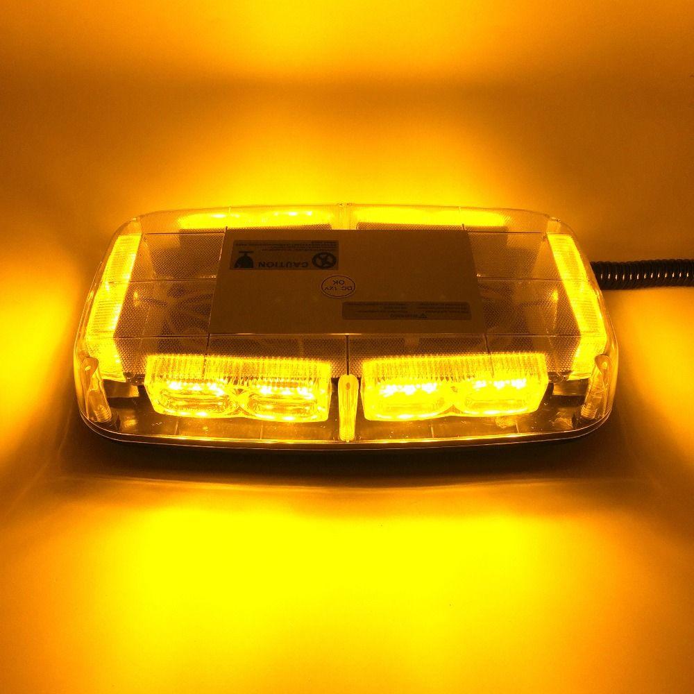 Amber Truck Vehicle Car Roof Top Led Flash Strobe Light Auto Hazard Emergency Lamp Yellow Led Warning Lights Dc Led Warning Lights Warning Lights Strobe Lights