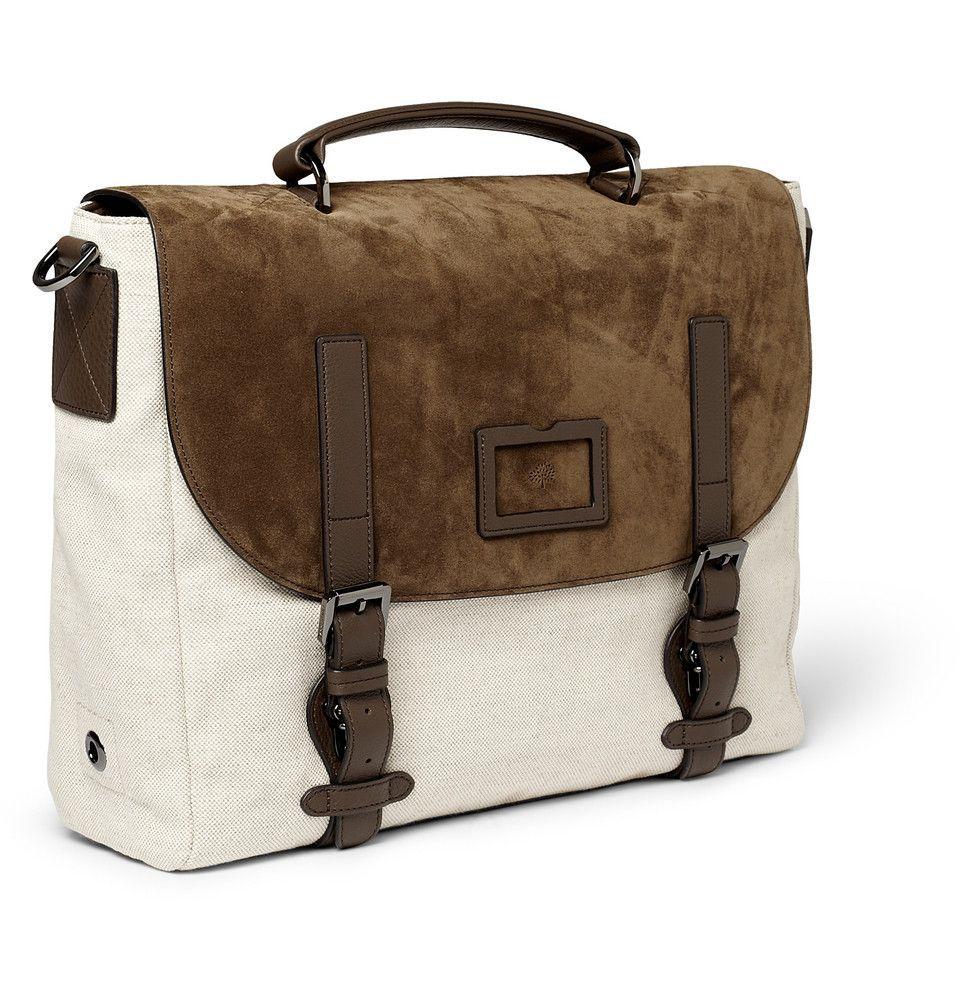 69afdfa094 ... greece mulberry rockley suede and canvas messenger bag mr porter 3bfcb  e1b3b