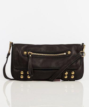 Black Dylan Crossbody Bag by Linea Pelle